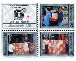 Ref. 6798 * MNH * - MACEDONIA. 1993. RED CROSS. SOLIDARITY WEEK . CRUZ ROJA. SEMANA DE LA SOLIDARIDAD - Eisenbahnen