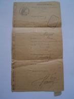 CONVOCATION : JUSTICE DE PAIX / NICE / ALPES MARITIMES 1921 - Documents Historiques