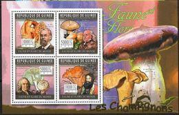 Guinée 2011  Mushrooms/ Champignons  Carl LINNE  MNH - Champignons