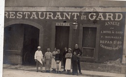 NIMES RESTAURANT DU GARD (CARTE PHOTO ) RARE - Nîmes