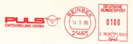 Freistempel 2721 Puls Entsorgung Vogel (?) - Marcophilie - EMA (Empreintes Machines)