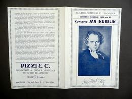 Pieghevole Jan Kubelik Concerto Teatro Comunale Bologna 1924 Violino Musica - Non Classificati