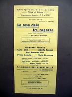 Locandina Compagnia Italiana Di Operette Roma Casa Delle 3 Ragazze Schubert 1935 - Non Classificati
