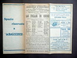 Pieghevole Politeama Giacosa Napoli 1928 La Figlia Di Iorio D'Annunzio Teatro - Non Classificati