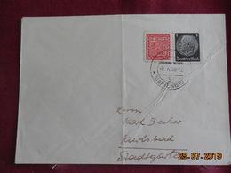Lettre De 1938 De Marienbad à Destination De Karlsbad - Bohême & Moravie