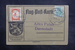 ALLEMAGNE - Carte Du Meeting Aérien Rhein U. Main En 1912, Affranchissement Et Oblitération Plaisants - L 36459 - Germania