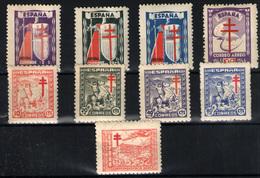 España Nº 970/3, 984/88. Año 1943/44 - 1931-50 Nuevos & Fijasellos