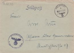 German Feldpost WW2: From A Horse Hospital  - Pferde-Lazarett 688 FP 29294 P/m 31.12.1942 - Letter Inside (G44-1M) - Militaria