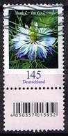 Bund 2018, Michel# 3351 R O  Blumen: Jungfer Im Grünen Mit Rollen EAN Mit Nr. 375 (verwischt) - Used Stamps