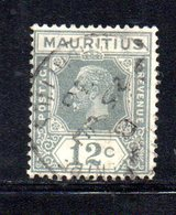W1458 - MAURITIUS 1921 , Giorgio V Yvert N. 168 . Fil CA Corsivo Mult - Mauritius (...-1967)