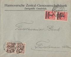 DR Brief Mif Minr.2x 309A,2x 313 Osnabrück 16.10.23 - Deutschland