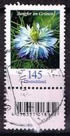 Bund 2018, Michel# 3351 R O  Blumen: Jungfer Im Grünen Mit Rollen EAN Mit Nr. 65 - Used Stamps