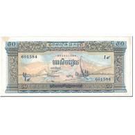 Billet, Cambodge, 50 Riels, 1956-1975, Undated(1956-75), KM:7d, TTB - Cambodge