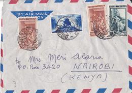Aerogramma Diretto In Kenia Da Courmayer - Fiera Di Bari - Lavoro - 6. 1946-.. Republik