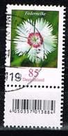 Bund 2017, Michel# 3116 R O Blumen. Federlilie Neuauflage Mit EAN Code Und Nr. 380 - Used Stamps