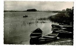 """Fleurville - La Saône (pêcheur Sur Barque, Barque """"L'Avenir"""" Ile Au Centre De La Saône Au Loin - Pas Circulé - France"""