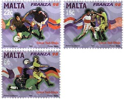 Ref. 67737 * MNH * - MALTA. 1998. FOOTBALL WORLD CUP. FRANCE-98 . COPA DEL MUNDO DE FUTBOL. FRANCIA-98 - Coppa Del Mondo