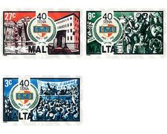 Ref. 60991 * MNH * - MALTA. 1983. 40th ANNIVERSARY OF THE FOUNDATION OF THE GENERAL LABOUR UNION . 40 ANIVERSARIO DE LA - Eisenbahnen