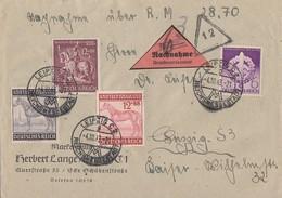 DR NN-Brief Mif Minr,818,857,858,861 Leipzig 4.10.43 - Deutschland