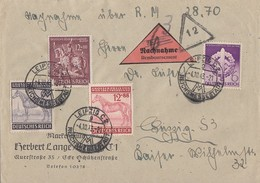 DR NN-Brief Mif Minr,818,857,858,861 Leipzig 4.10.43 - Briefe U. Dokumente