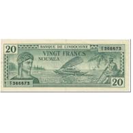 Billet, Nouvelle-Calédonie, 20 Francs, 1944, Undated (1944), KM:49, TTB - Nouméa (New Caledonia 1873-1985)