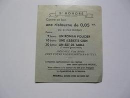 VIEUX PAPIERS - BON : St HONORE Ristourne - Zonder Classificatie