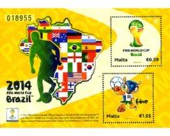 Ref. 326002 * MNH * - MALTA. 2014. COPA DEL MUNDO DE FUTBOL - BRASIL 2014 - Fußball-Weltmeisterschaft
