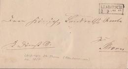 Preussen Brief R2 Leibitsch 3.9. Gel. Nach Thorn - Preussen