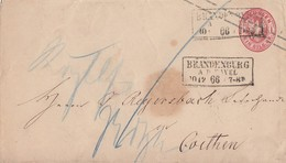 Preussen GS-Umschlag 1 Sgr. R3 Brandenburg A.d. Havel 30.12.66 - Preussen