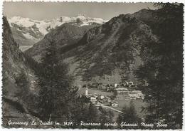 W3989 Gressoney La Trinité (Aosta) - Panorama Sfondo Ghiacciai Monte Rosa / Viaggiata - Altre Città