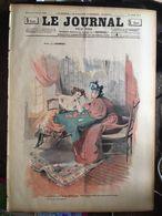 Le Journal Pour Tous 9 Fevrier1898 Divination Par Les De Cartes Bonne Aventure Cartomentienne Dessin Lourdey - 1850 - 1899