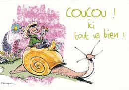 1734  Gaston Lagaffe Par Franquin (1999), Coucou ! Ici Tout Va Bien ! - Bandes Dessinées