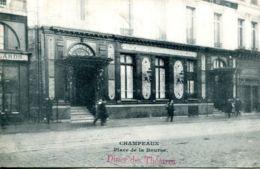 N°74938 -cpa Paris -Champeaux -place De La Bourse- Diner Des Théâtres- - Hotels & Gaststätten