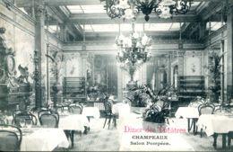 N°74939 -cpa Paris -Champeaux -place De La Bourse- Diner Des Théâtres- - Hotels & Gaststätten