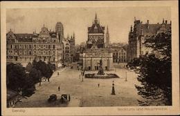 Cp Gdańsk Danzig, Stockturm Und Hauptwache, Denkmal, Geschäft Bernhard Jacob - Danzig
