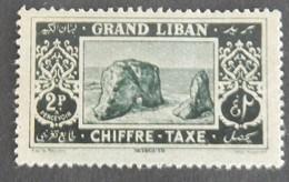 GRAND LIBAN  TAXE YT 13 NEUF* ANNÉE 1925 AVEC UN CLAIR AU CENTRE DU TIMBRE VOIR 2 SCANS - Great Lebanon (1924-1945)