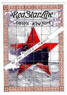 """BELGIQUE - ANVERS - NEW YORK - TRANSPORT BATEAU   - """" Red Star Line """" - - Transportmiddelen"""