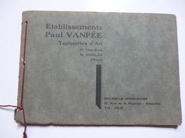 VIEUX PAPIERS - PUBLICITE : CATALOGUE Tapisseries D'Art - Ets Paul VANPEE (Waes) - Muebles