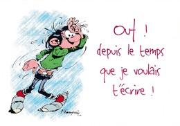 1739 Gaston Lagaffe Par Franquin (1999), Ouf ! Depuis Le Temps Que Je Voulais T'écrire ! - Bandes Dessinées