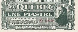 MONNAIE DE LA REPUBLIQUE DU QUEBEC LIBRE - Canada