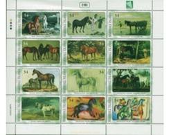 Ref. 275893 * MNH * - MARSHALL Islands. 2002. PAINTINGS OF HORSES . PINTURAS DE CABALLOS - Unclassified