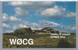 US.- QSL KAART. CARD. WØCG. GEOFFRY S. HOWARD, (JEFF). SUFFIELD, OHIO, PORTAGE COUNTY. - Radio-amateur