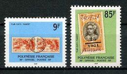 POLYNESIE 1997 Service N° 27/28 ** Neufs  MNH Superbes C 3,70 € Cachet Timbre Sur Timbre - Service