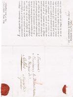 Lettre Franchise PARIS LE MINISTRE DE L INTERIEUR 1792 ETAT DES EMIGRES - 1792-1815: Conquered Departments