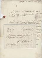 """Franchise Strasbourg An 5 - 1.3.1797 Service Militaire Signature Dedon Chef De Corps Des Pontonniers """"Déserteurs"""" - Marcofilia (sobres)"""