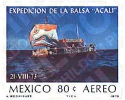 Ref. 27154 * MNH * - MEXICO. 1975. EXPEDICION DE LA BARCA ACALI - Bateaux