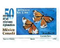 Ref. 76497 * MNH * - MEXICO. 1994. 50th ANNIVERSARY OF DEPLOMATIC RELATIONS WITH CANADA . 50 ANIVERSARIO DE LAS RELACION - Messico