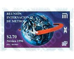 Ref. 75224 * MNH * - MEXICO. 1996. INTERNATIONAL UNDERGROUND  MEETING . REUNION INTERNACIONAL SOBRE METROS - Eisenbahnen