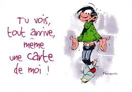 1748 Gaston Lagaffe Par Franquin (1999), Tu Vois Tout Arrive, Même Une Carte De Moi ! - Bandes Dessinées