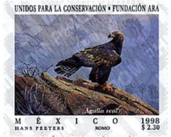 Ref. 36808 * MNH * - MEXICO. 1998. ARA FOUNDATION FOR THE CONSERVATION OF NATURE . FUNDACION ARA POR LA CONSERVACION DE - Birds